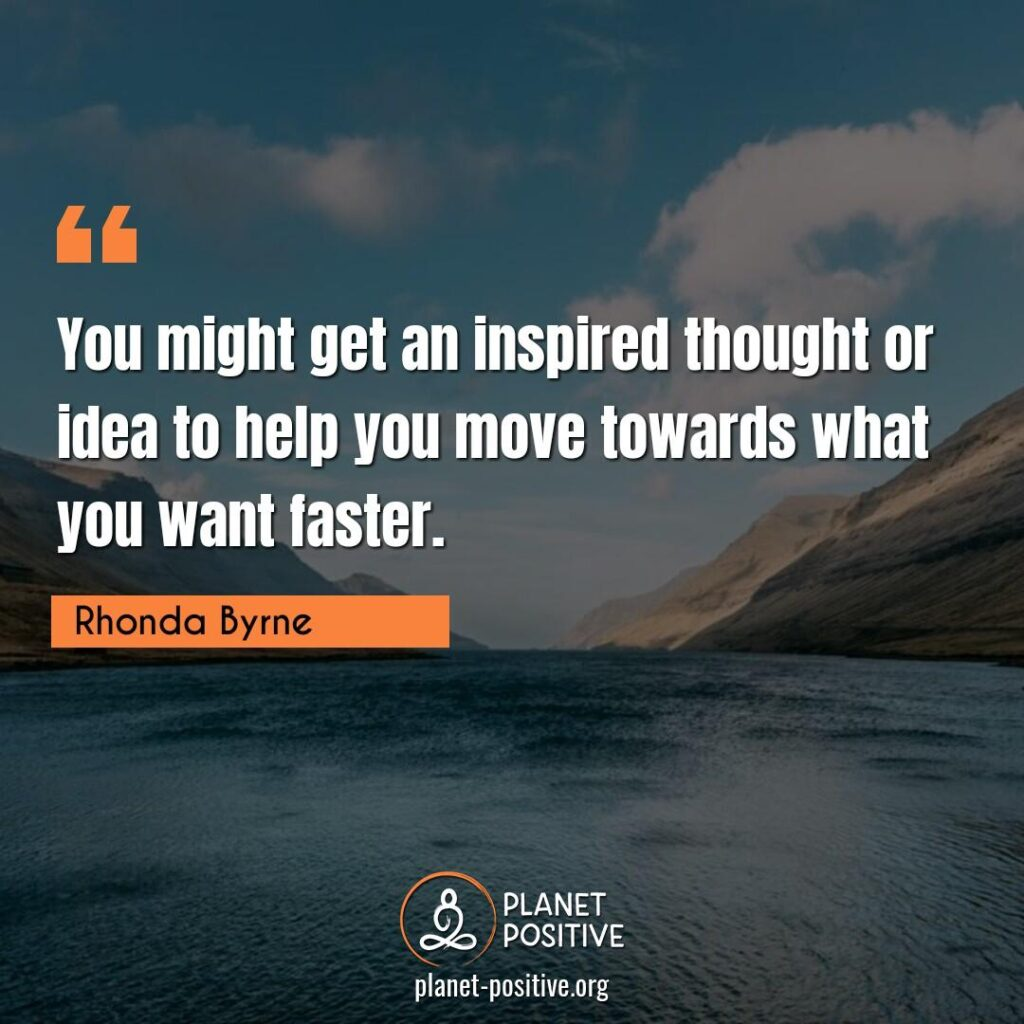 Law Of Attraction Quote by Rhonda Byrne